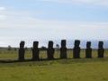 Moai facing the ocean