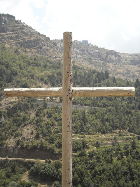 A wooden cross